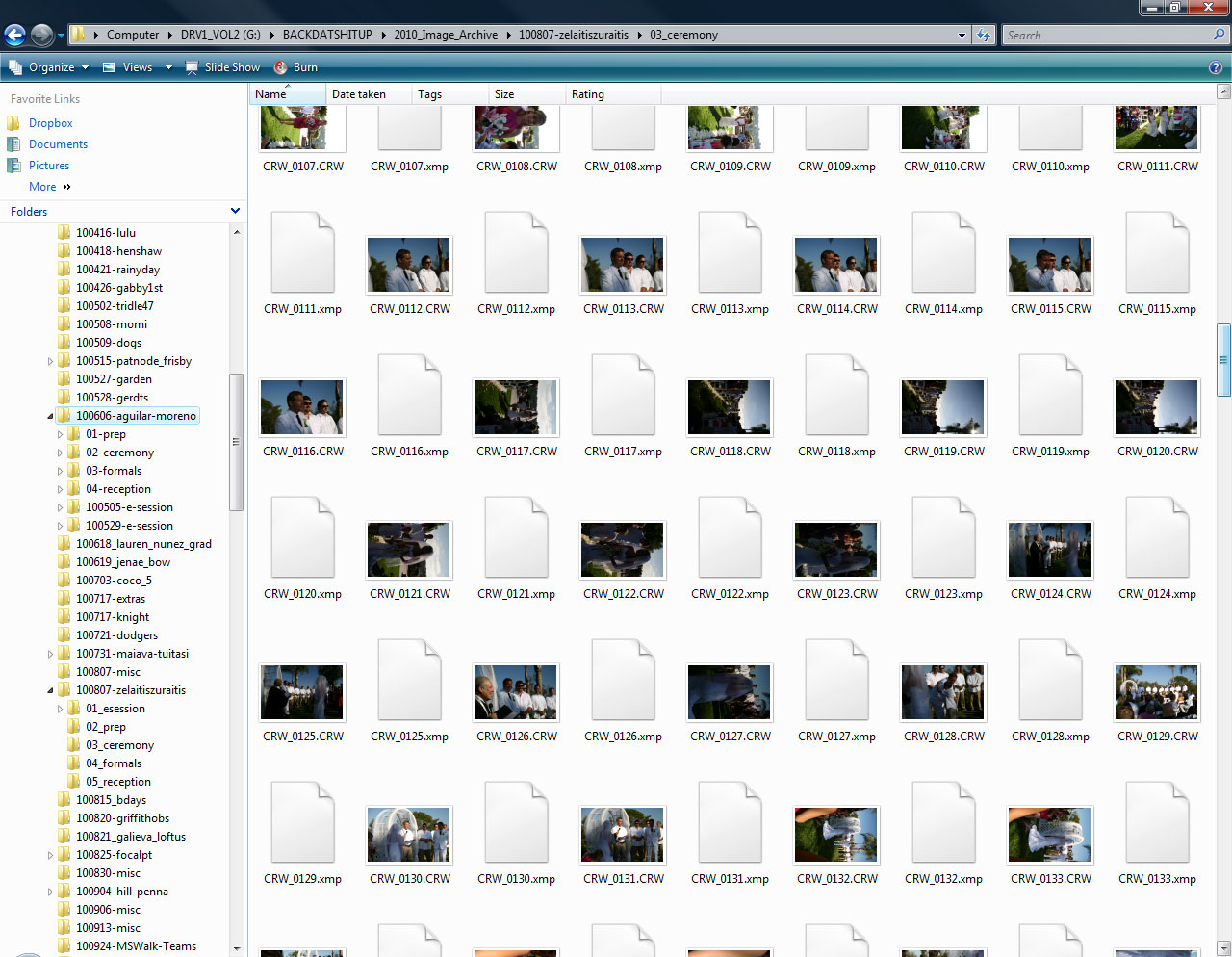 Windows Explorer preview pane with Raw add-in installed now shows image previews