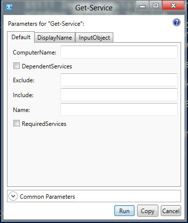 PowerShell 3 Show-Command get-service