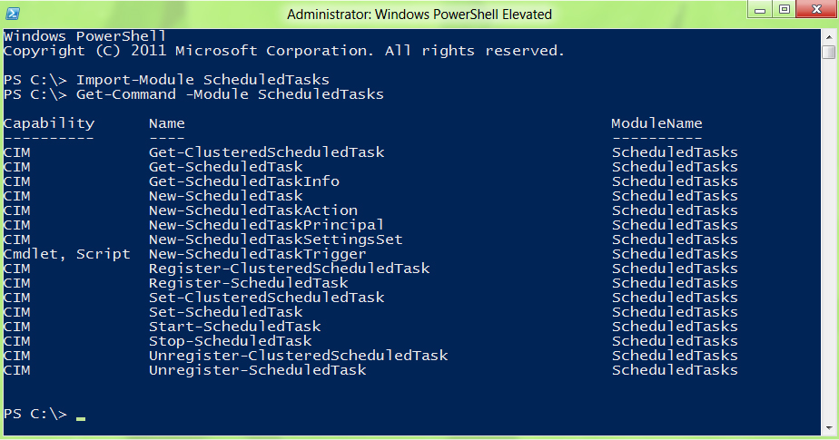 ScheduledTasks commands