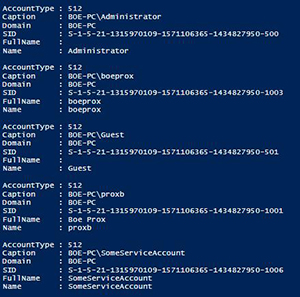 Reporting on Local Accounts Using PowerShell -- Microsoft