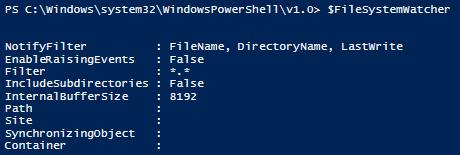 Tracking Changes to a Folder Using PowerShell -- Microsoft