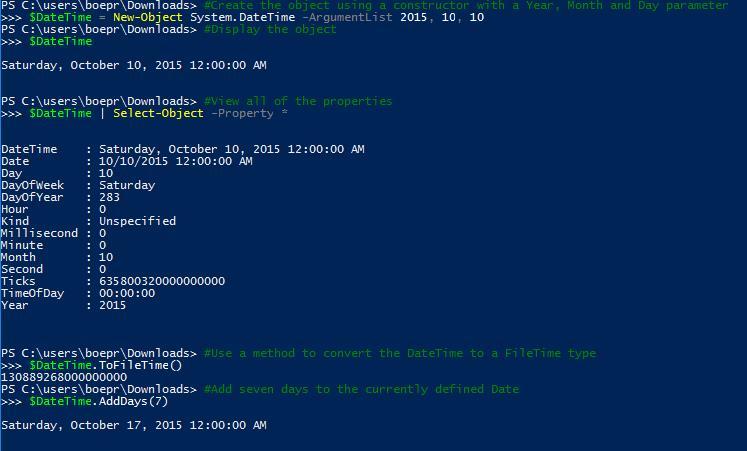 Using  NET Members in PowerShell -- Microsoft Certified