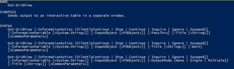 Creating a GUI Using Out-GridView in PowerShell -- Microsoft
