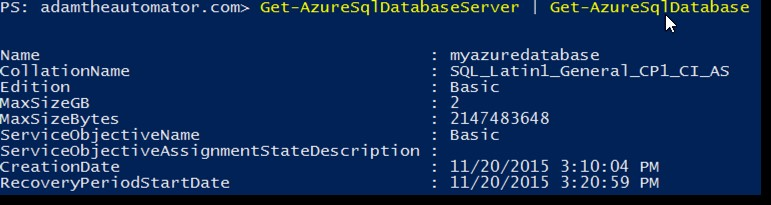 Connecting to an Azure SQL Database with PowerShell