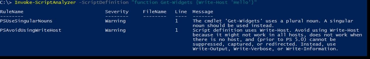 Getting Started with PowerShell Script Analyzer -- Microsoft