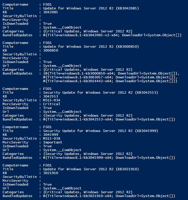 Finding Pending Updates Using PowerShell -- Microsoft