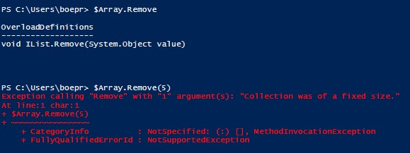 Powershell basics working with arrays microsoft certified finding a fault in removing data from an array malvernweather Image collections