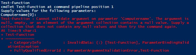 Anatomy of a PowerShell Parameter, Part 2: Validation