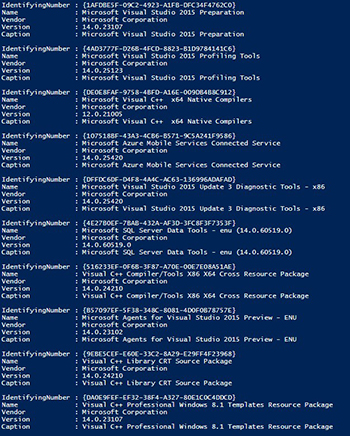 Gathering Installed Software Using PowerShell -- Microsoft