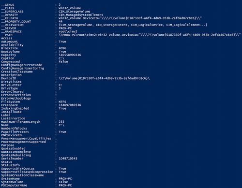 Viewing Your Drive Information with PowerShell -- Microsoft