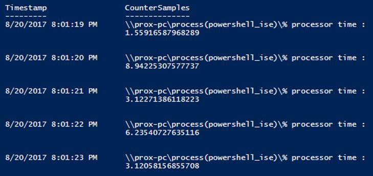 Working with Performance Counters in PowerShell -- Microsoft
